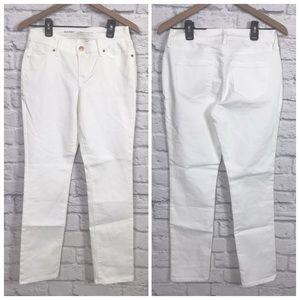 Old Navy White Denim Jeans Curvy Midrise Sz 4p